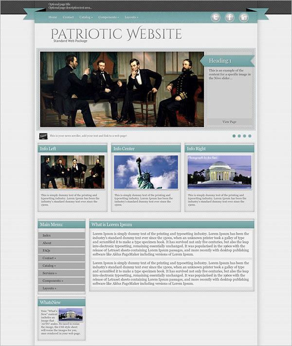 Sample Patriotic WordPress Themes & Templates