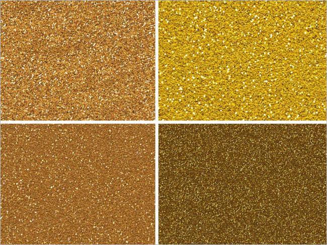 Sample glitter Gold pattern