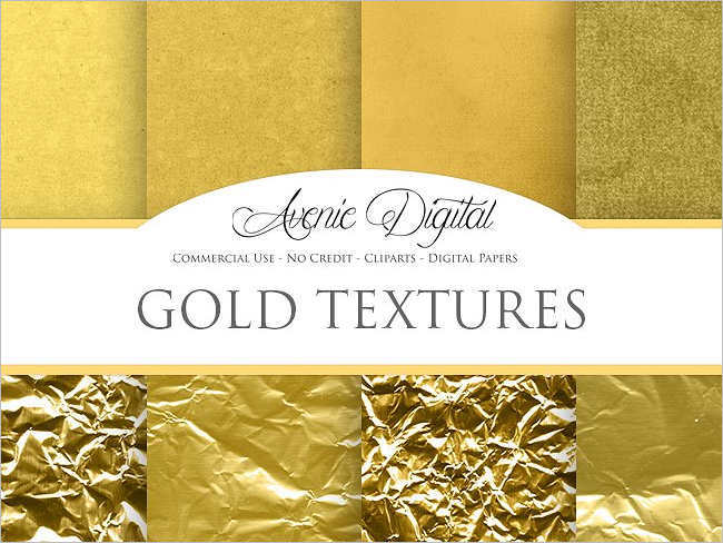 Scrapbook Gold Texture Design