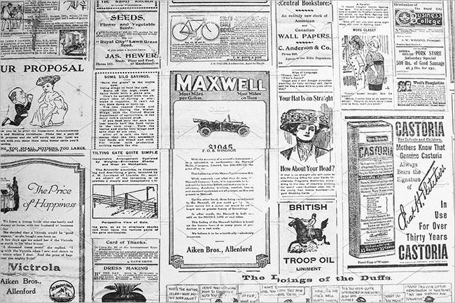Seanless Newspaper Texture Design