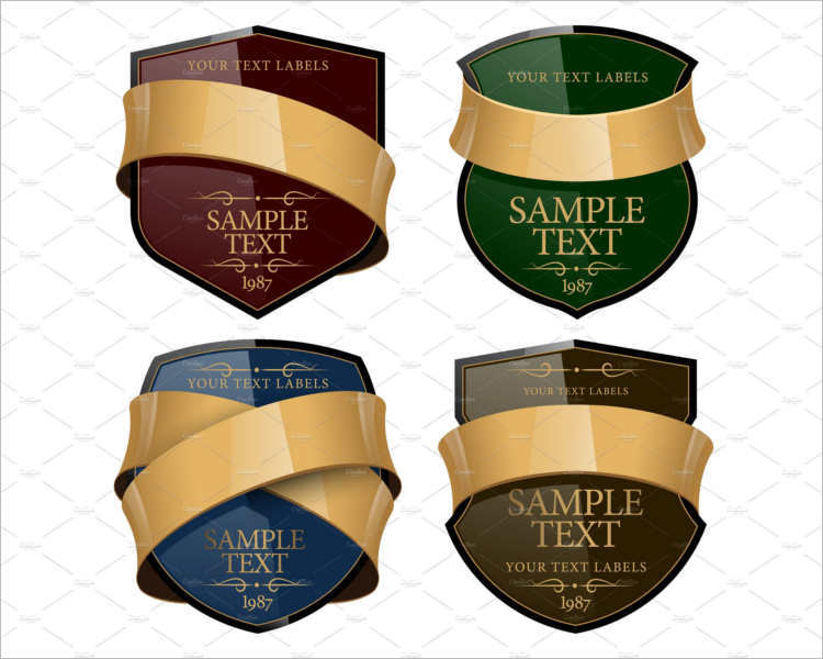 Shiny Wine Labels Design
