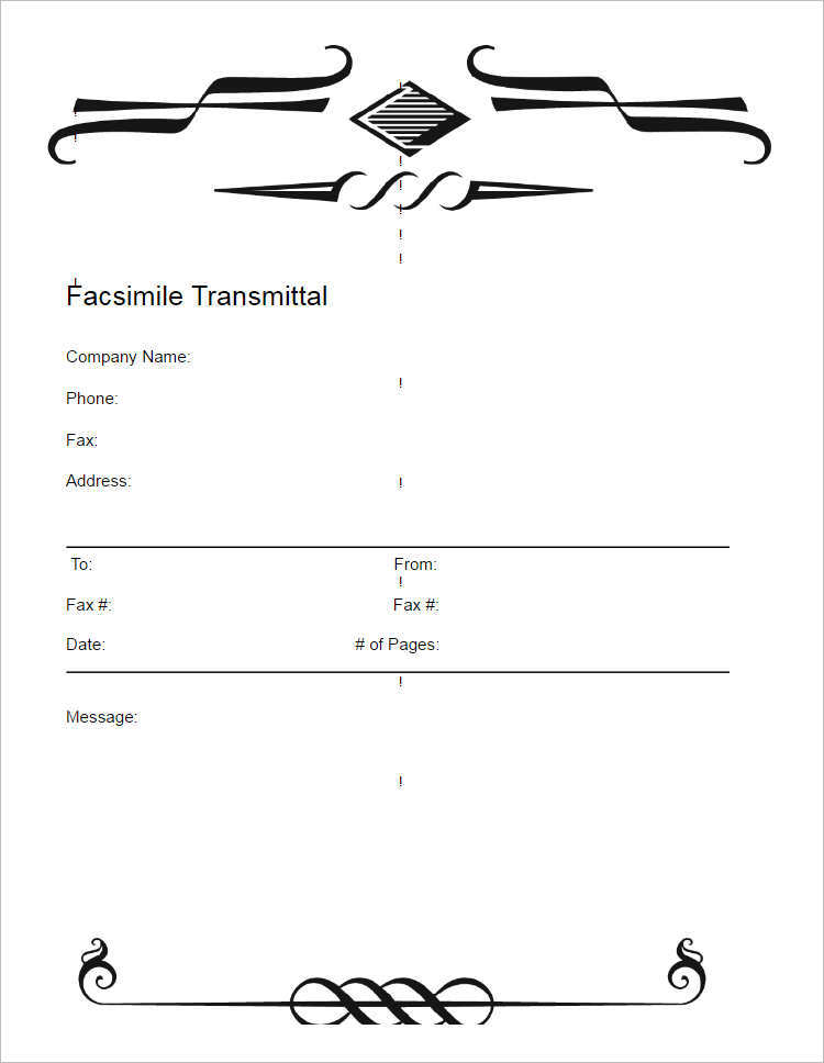 Simple Modern Fax Cover Sheet Word Doc