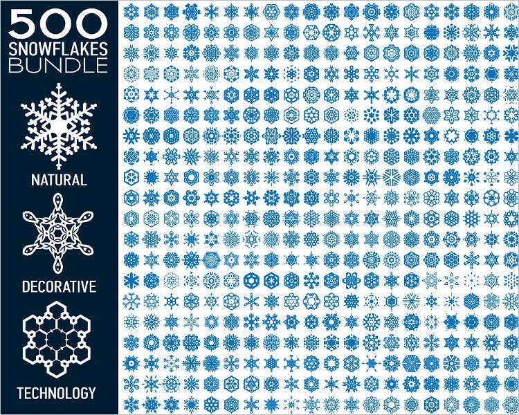 snowflake-bundle-vectore-design