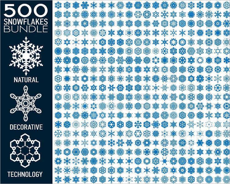 snowflake-bundle-vectore-design