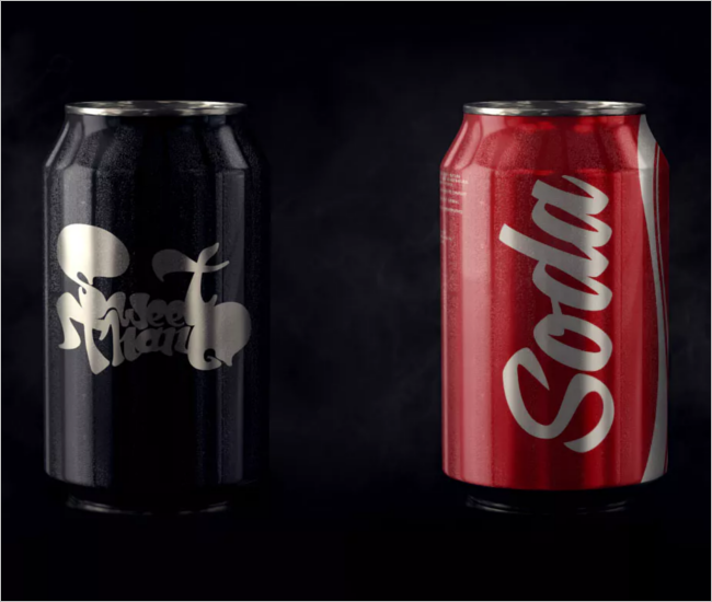 Soft Drink Can Mockup Design