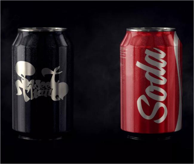 Soft Drink Can Mockup Design