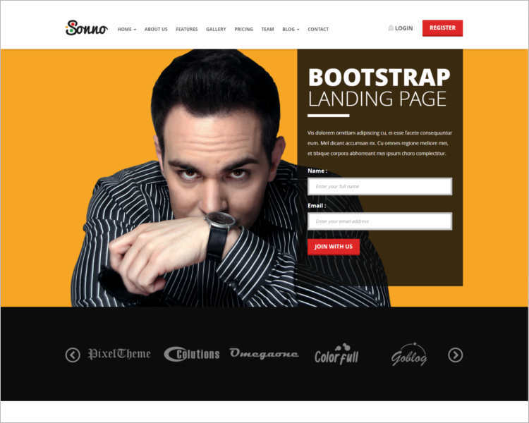 sonno-marketing-landing-page-templates