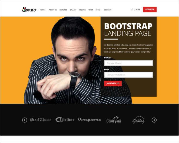 sonno-marketing-landing-page-templates