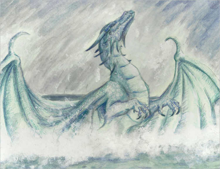 Spirit pencil dragon Drawing