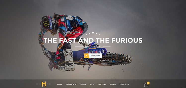 Sport Motorcycle WordPress Theme