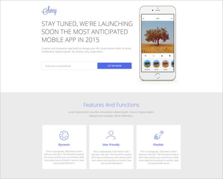 swey-coming-soon-landing-page-templates