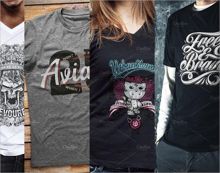 T-Shirt Mockup Pack Design