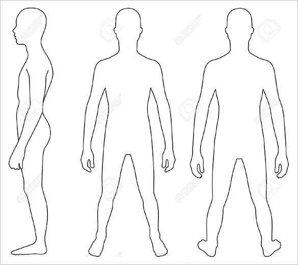 Teenager Bodyy outline Templates