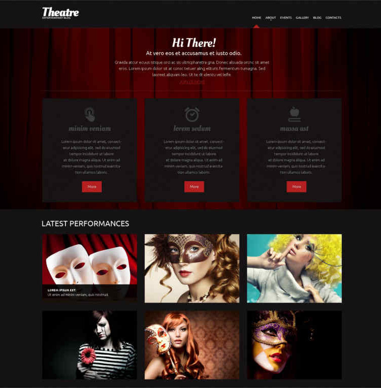 Theater-Responsive-WordPress-Themes and templates