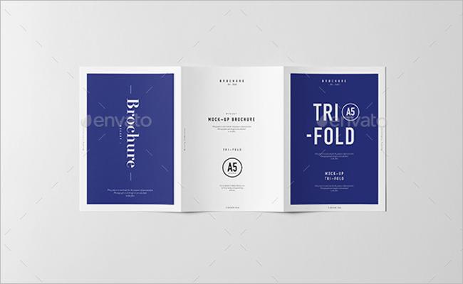 Tri Fold A5 Brochure Mockup Design