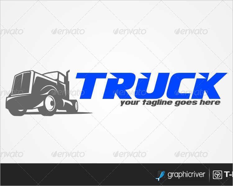 truck-tagline-logo-design