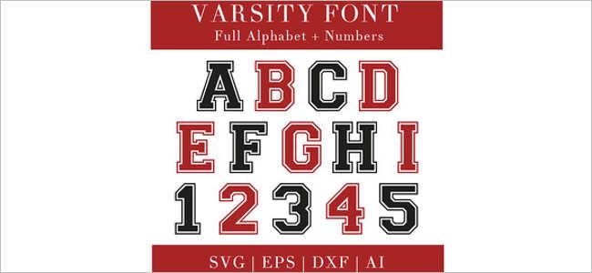 Varsity Aplique font Design