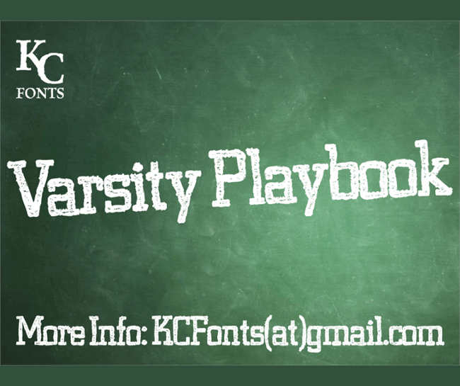 Varsity Dafont Font Design