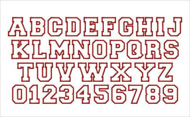 Varsity Font In Word Design