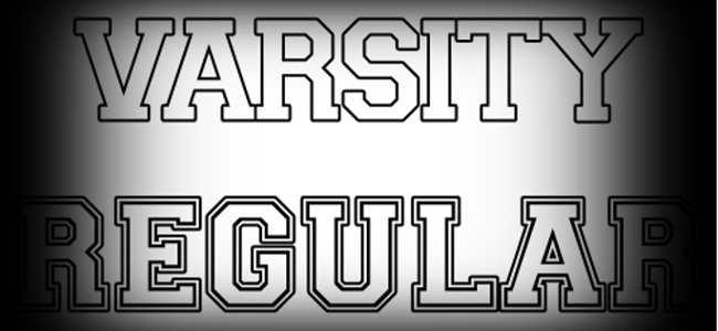 Varsity Letter Font Design