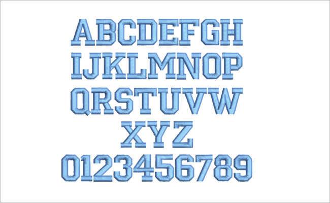 Varsity Open Font Design