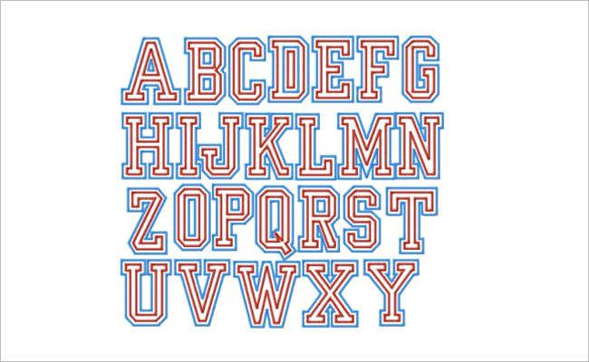 Varsity Sports Font Design