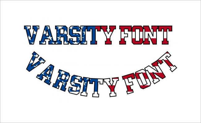 Varsity Style Font Design