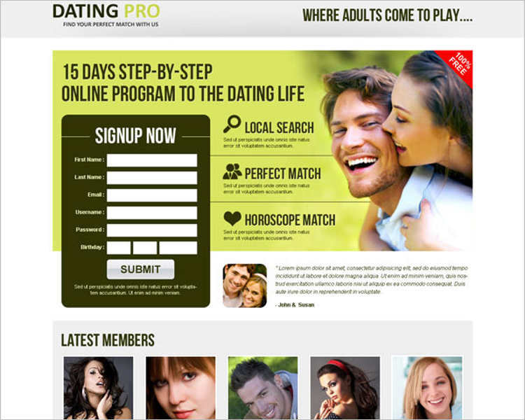 vector-dating-landing-page-templates
