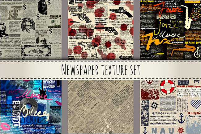 Vector Newspaper Texture Design