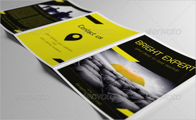 Vertical A5 Brochure Mockup Design