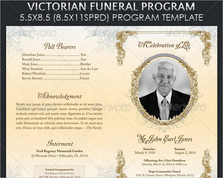 Funeral Program Templates Free Word Pdf Psd Doc Samples