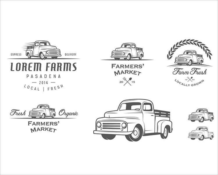 vintage-farmer-truck-logo-design