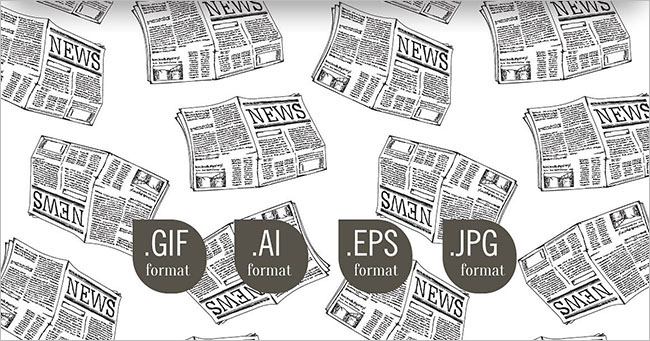 Vintage Newspaper Texture Design