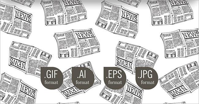 Vintage newspaper Texture Design