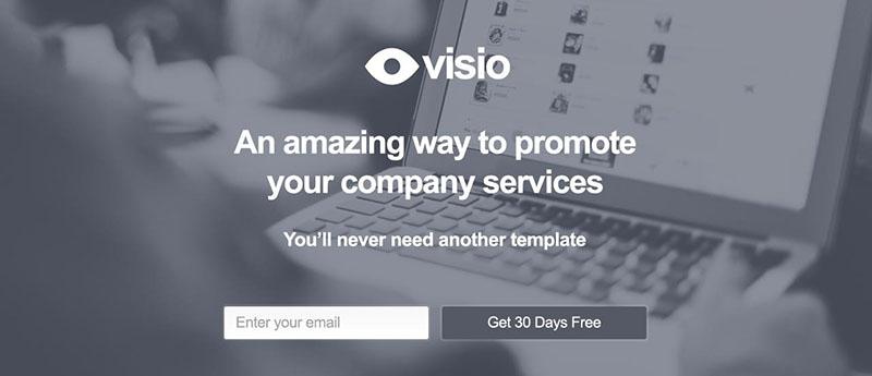 visio-startup-landing-page-templates