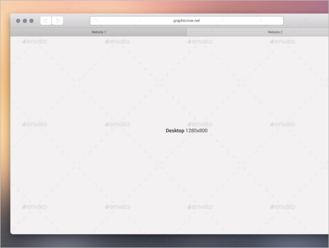 Web Browser Mockup Sketch