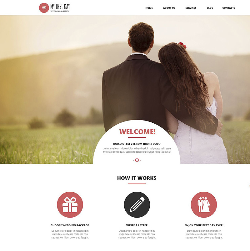 Wedding Event WordPress Templates