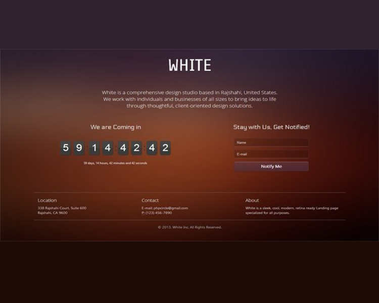 white-coming-soon-landing-page-templates