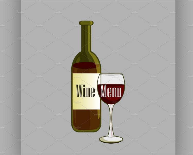 Wine Menu Lable Design