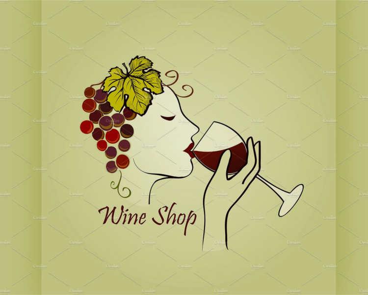 Wine Shop Lable Design