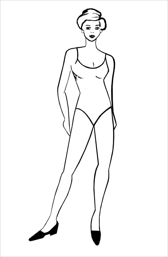 Woman Body Outline Templaes