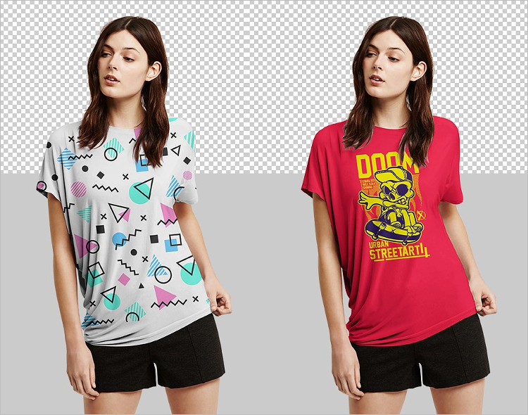 Women T-Shirt Mockup Design