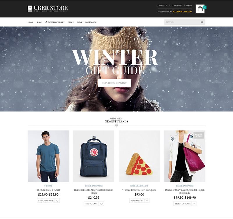 Wordpress Premium e-commerce Theme