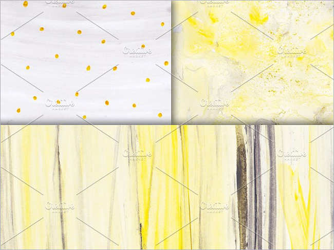 Yellow Gray Watercolor Texture Design