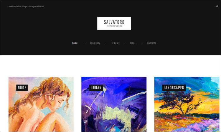 Artist Portfolio WordPress Themes