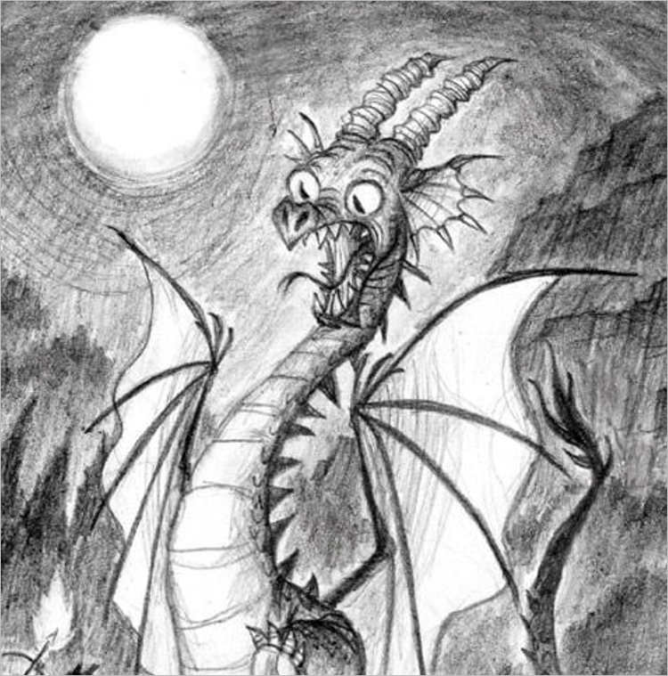 cartoon dragon drawing Design