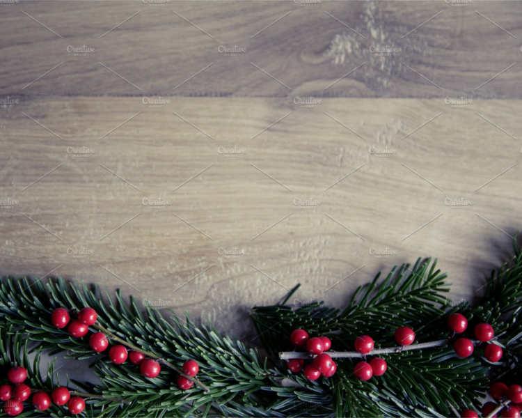 christmas Holly Fir Tree Decoration