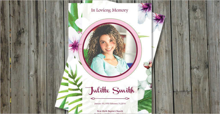 Printable Funeral Card Templates  Free Word Pdf Psd  Creative