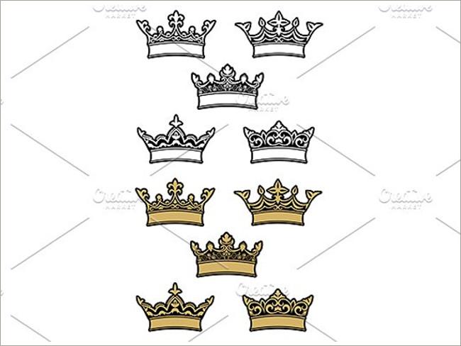 gold crown pattern 16
