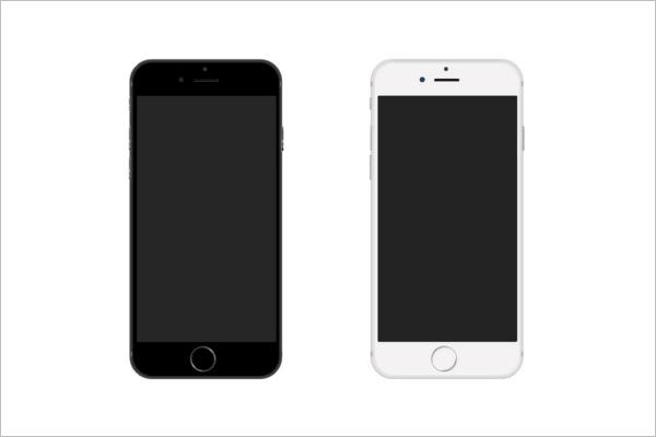 iPhone 6 Mockup Photoshop Design